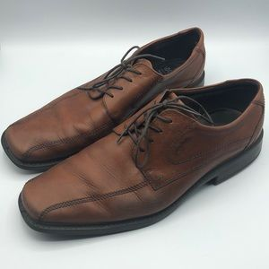 Ecco brown leather men's dress shoes 47